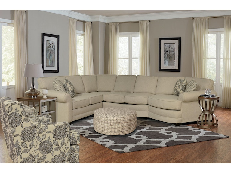 England Living Room Brantley Right Cuddler Sectional 939488 ...