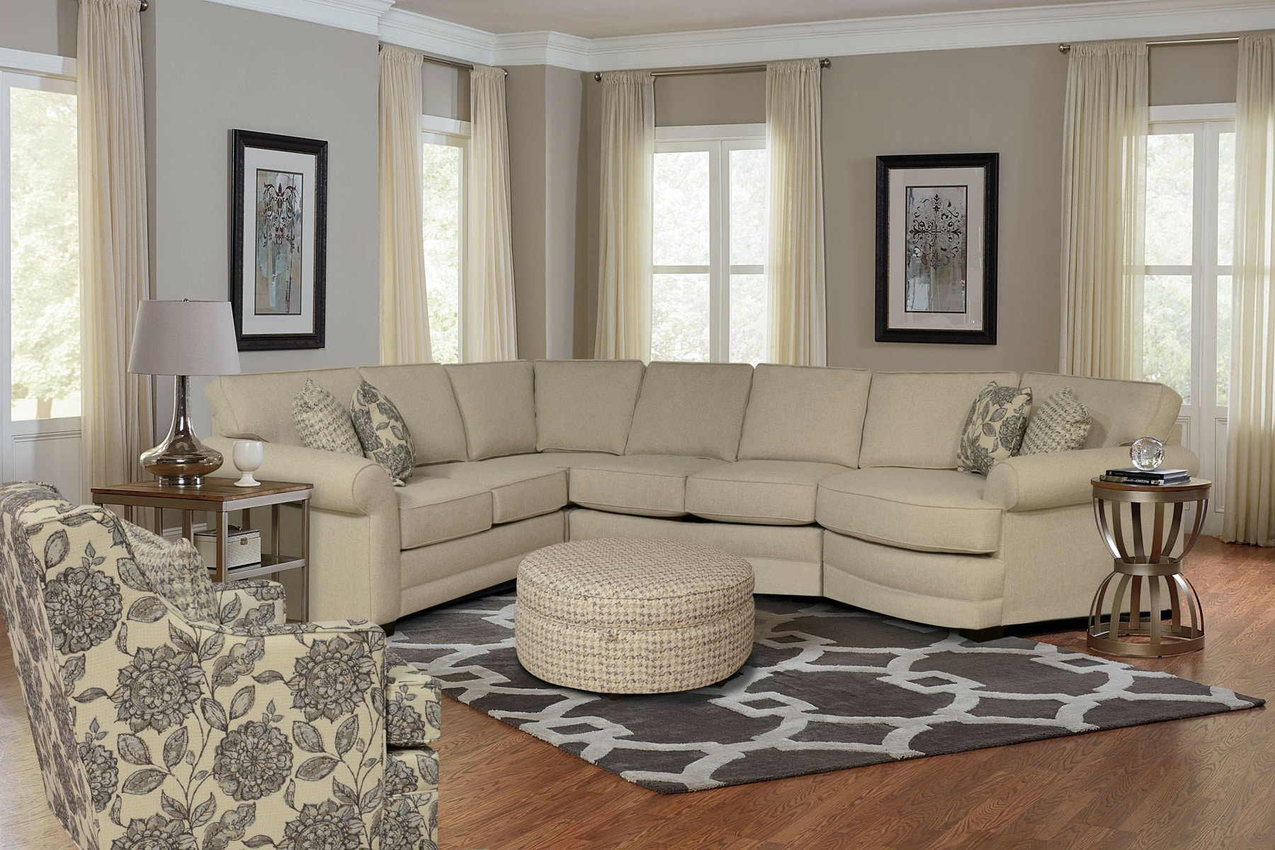 The Brantley Right Cuddler Sectional (939488) Includes The Left Arm Facing  Loveseat, Armless Loveseat, Wedge, And Right Arm Facing Cuddler Seat.