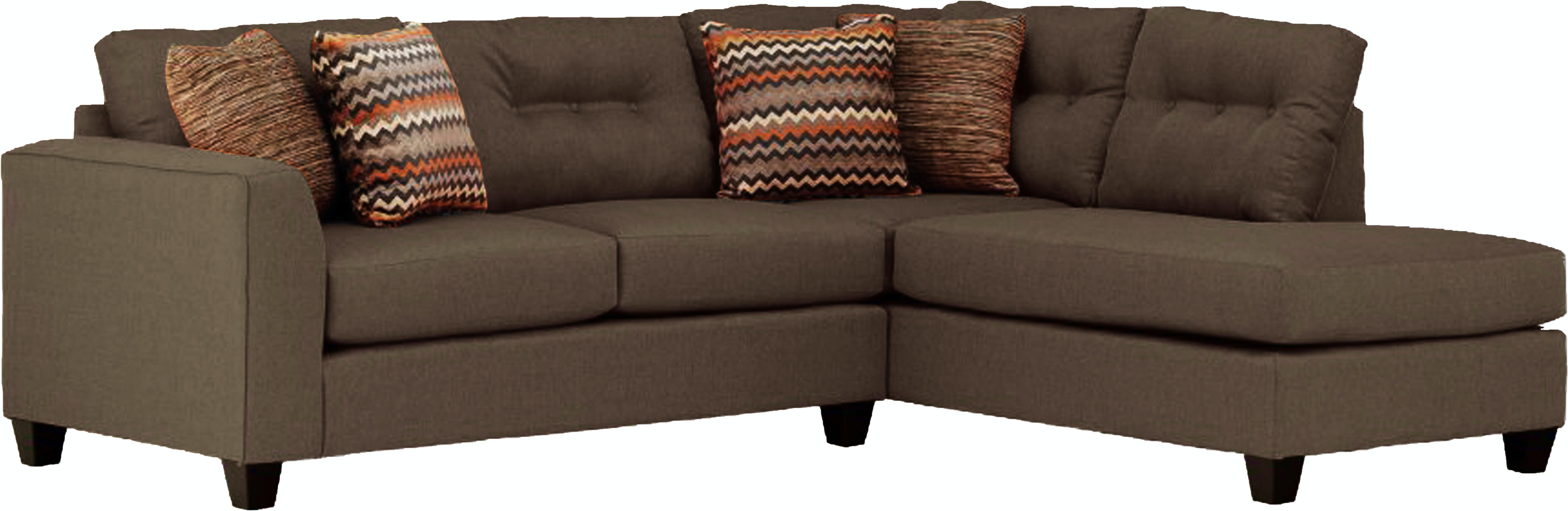 Fusion Living Room Fandango Mocha Sectional Furniture