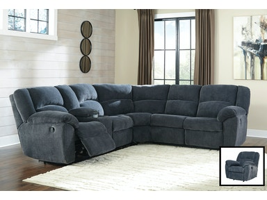 Timpson Reclining Sectional with Rocker Recliner 952643