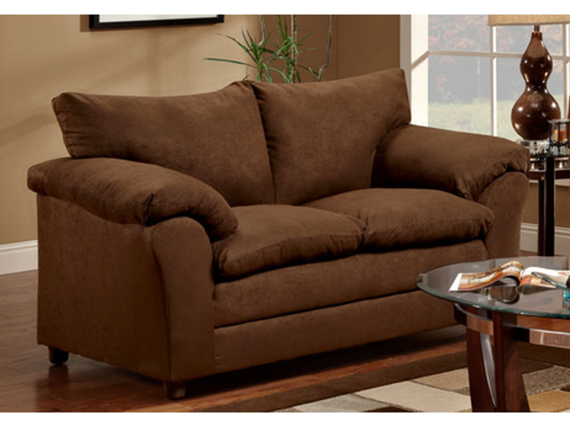 Chocolate Loveseat 035784