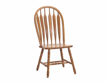 Classic Oak Detailed Side Chair 034343