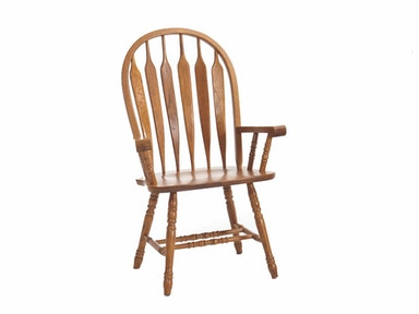 Classic Oak Detailed Arm Chair 034344