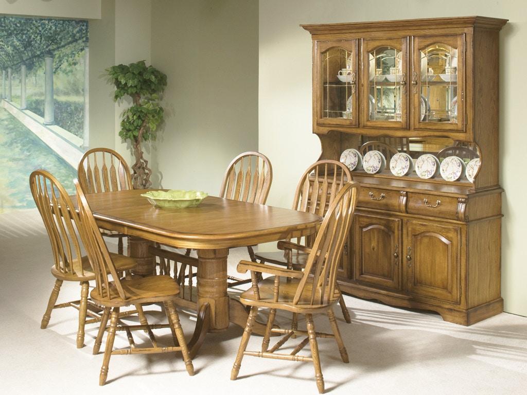 intercon classic oak dining set