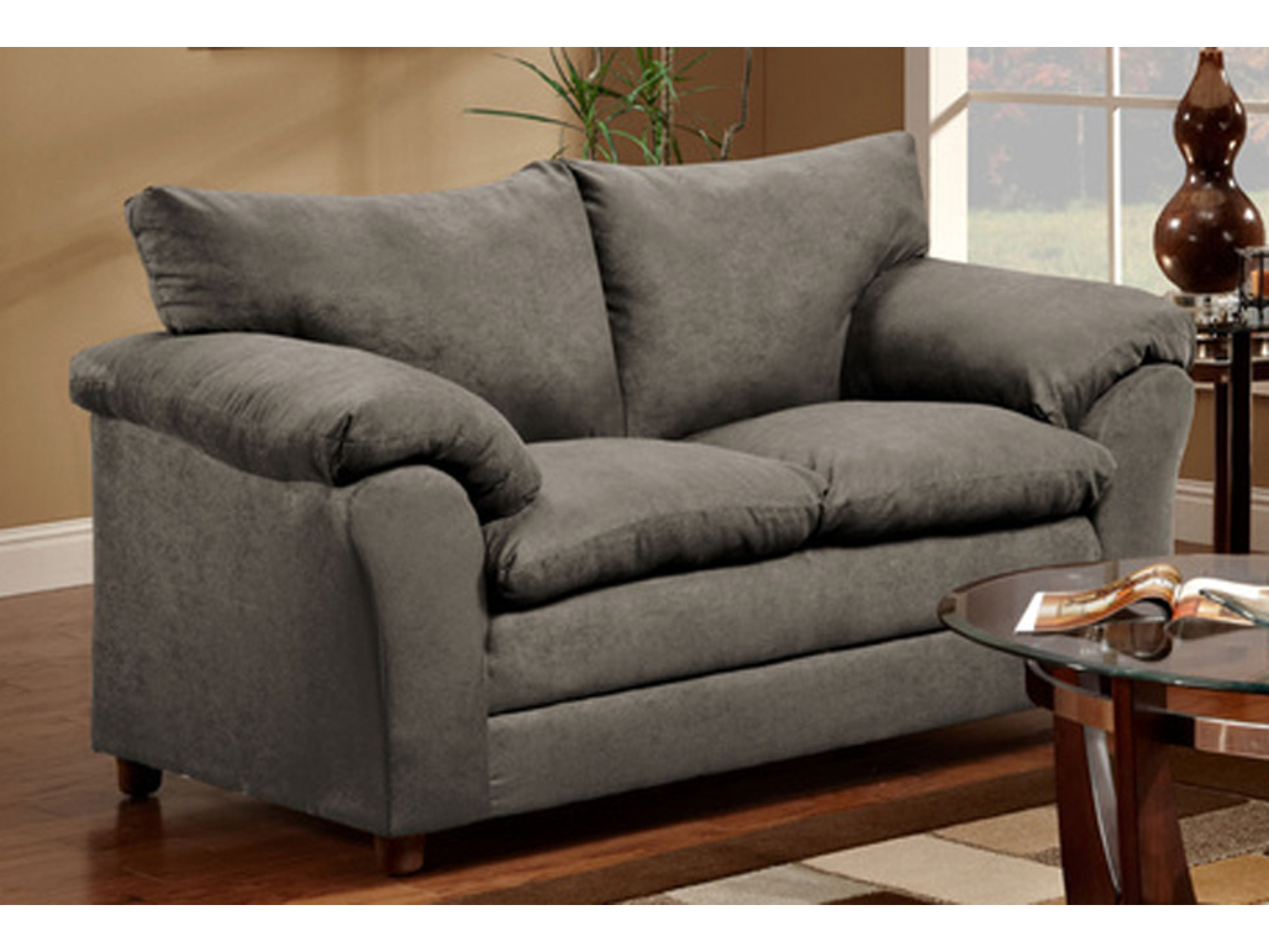 Graphite Loveseat 035780