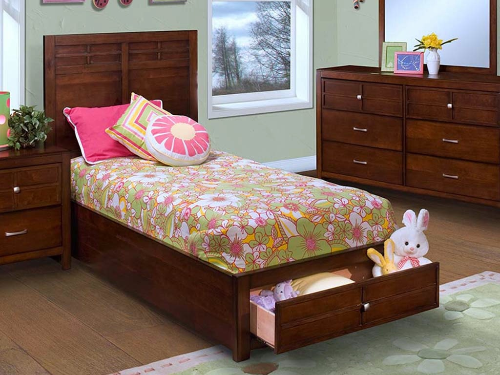 New Classic Home Furnishings Inc Bedroom Kensington Panel Storage Bed Twin 620253 Furniture