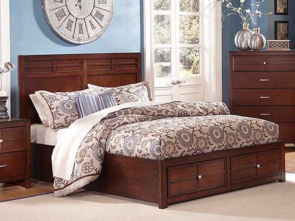 New Classic Home Furnishings Inc Kensington Storage Bedroom Group King 840811 Furniture