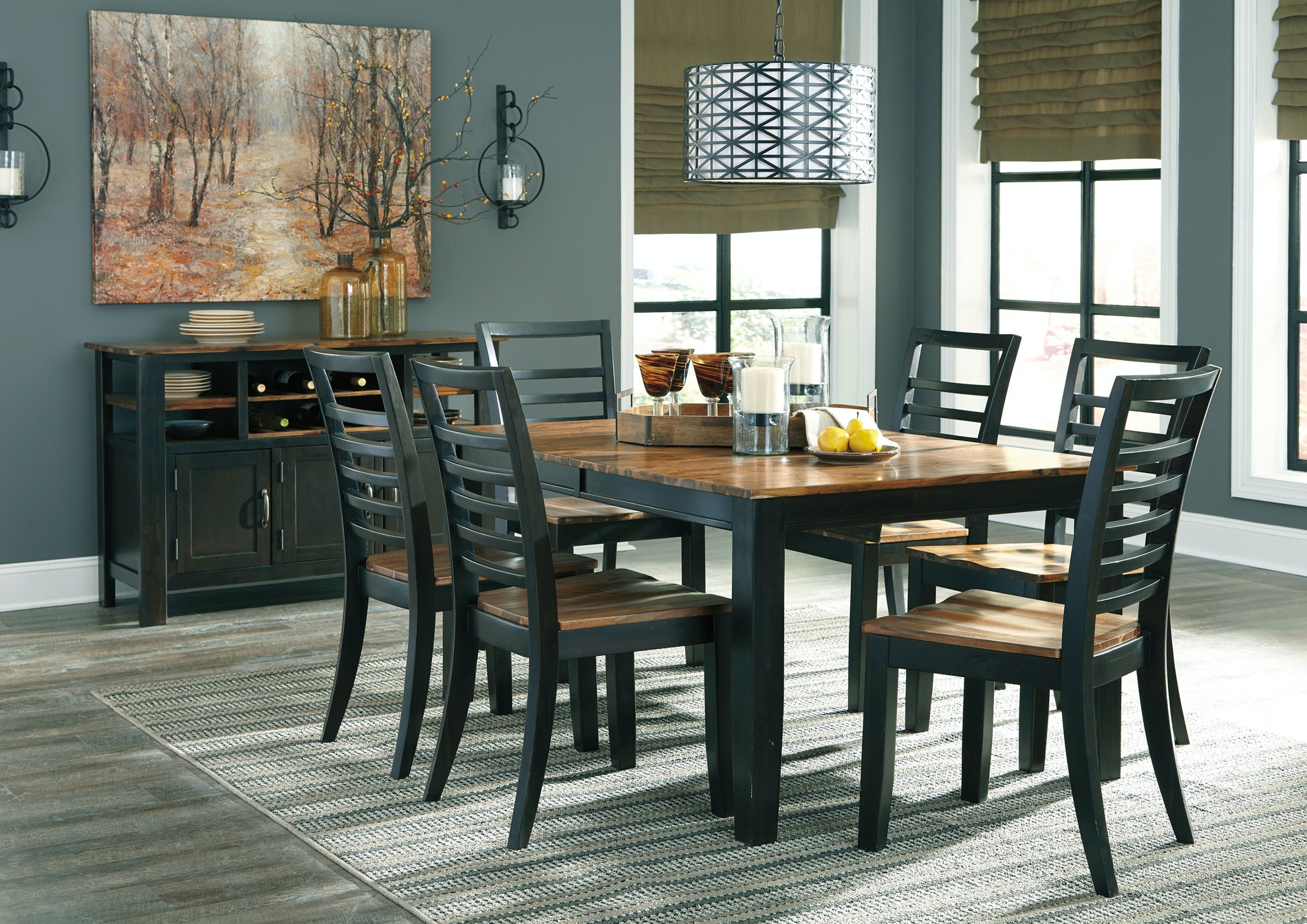 Beautiful Ashley Dining Room Table Ideas Home Design  : quinley3 from degnerfordelegate.com size 1900 x 1344 jpeg 401kB