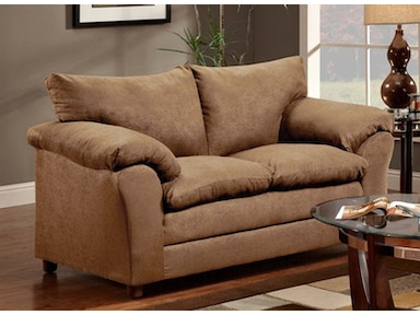 Taupe Loveseat 038654