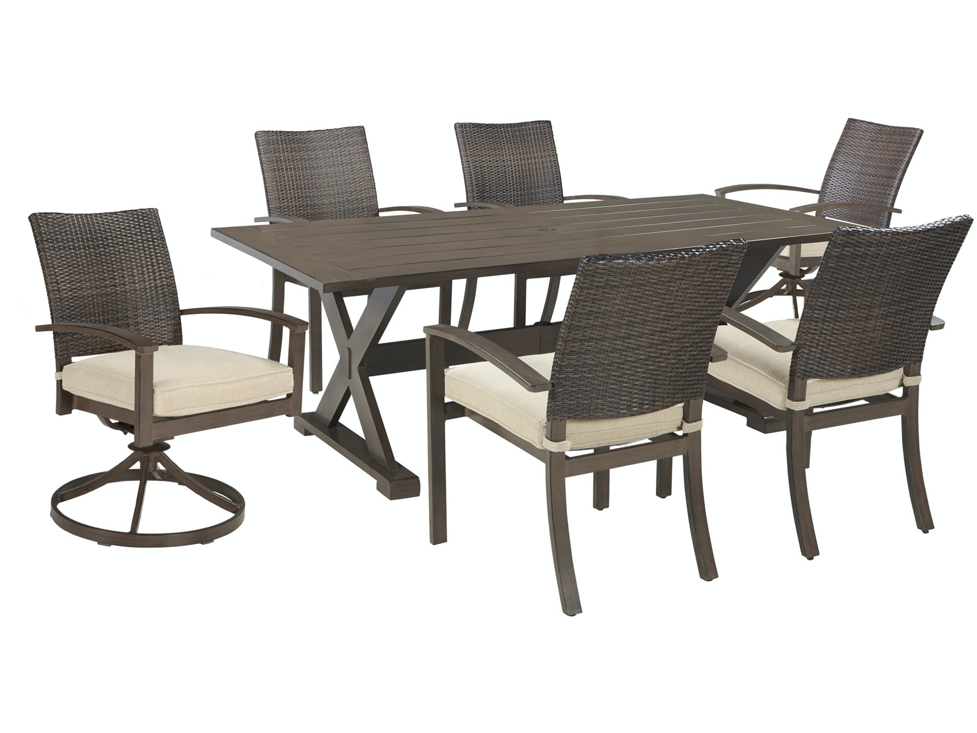 Moresdale Swivel Dining Set 224219