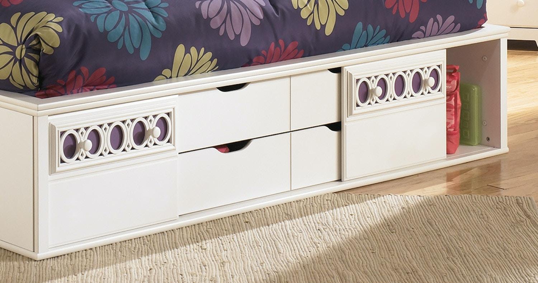 Signature Design by Ashley Zayley Storage Lounge Bed - Full 292082 - Signature Design By Ashley Youth Bedroom Zayley Storage Lounge Bed