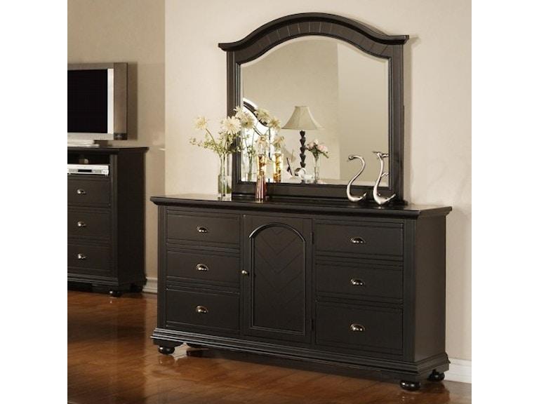 Elements Brook Dresser Black Bp800drb Crown Furniture
