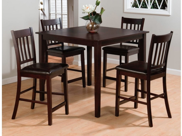 Jofran Dining Room Pub Dining Table 4 Stools 892 Crown Furniture
