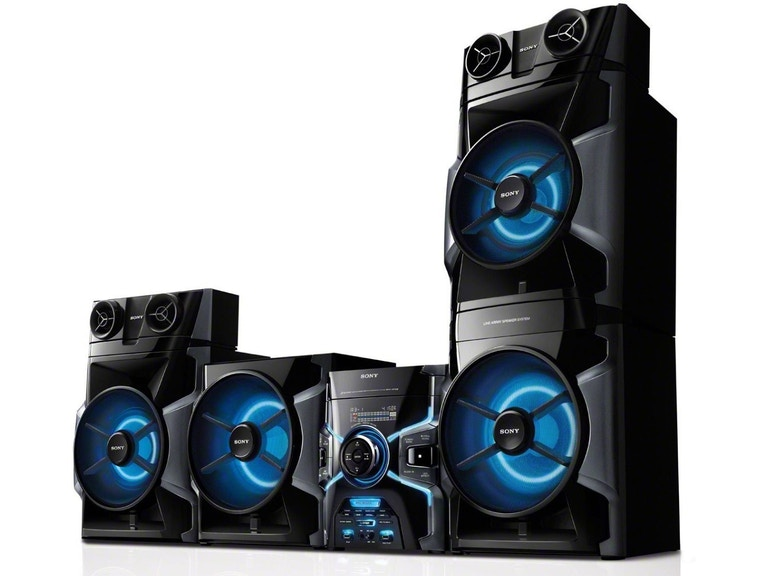 Sony Sound System 1600w Mhcgpx8g Multi Color Crown