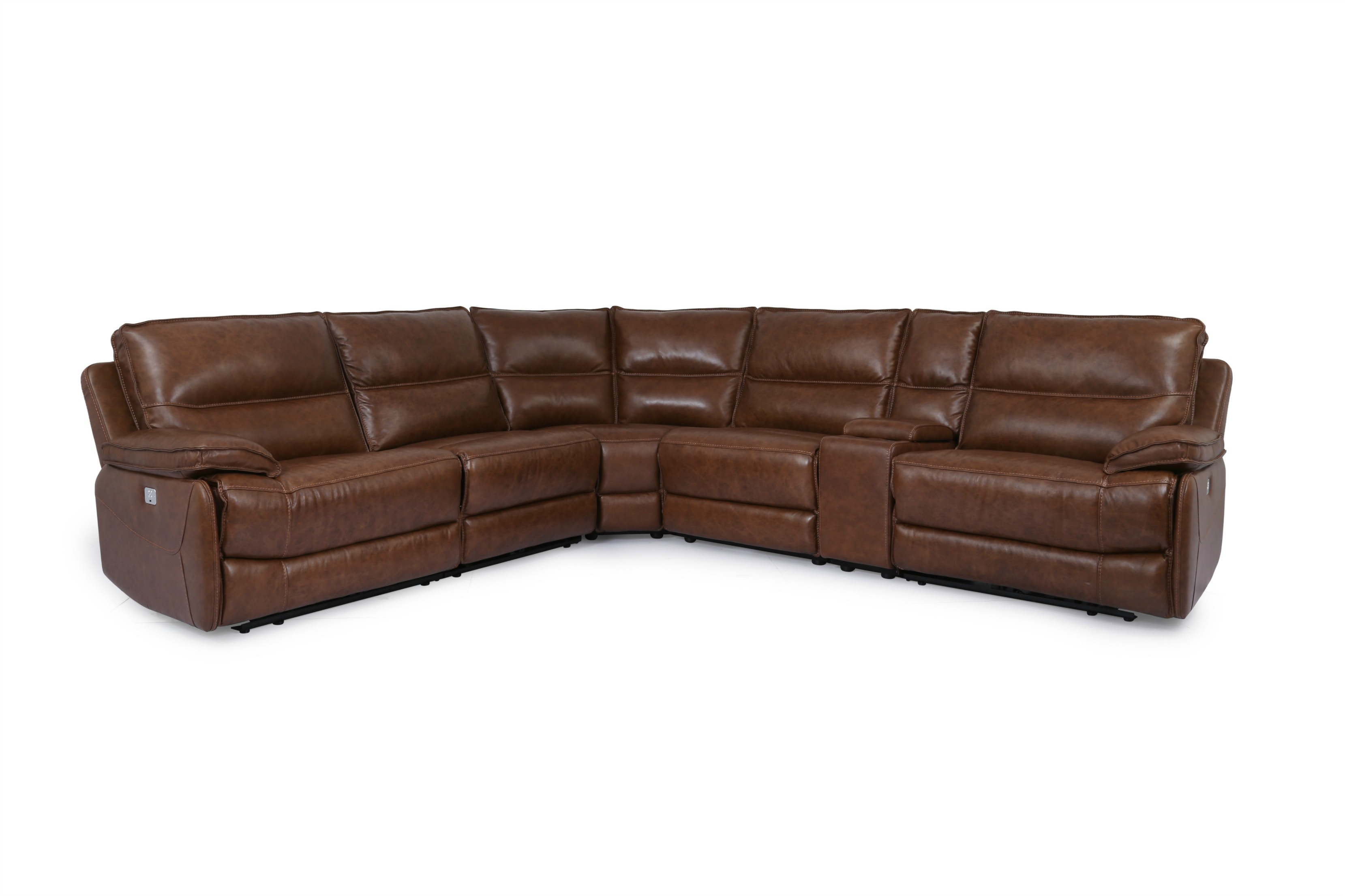Norwood Furniture Living Room Reclining Leather Sectional 5091