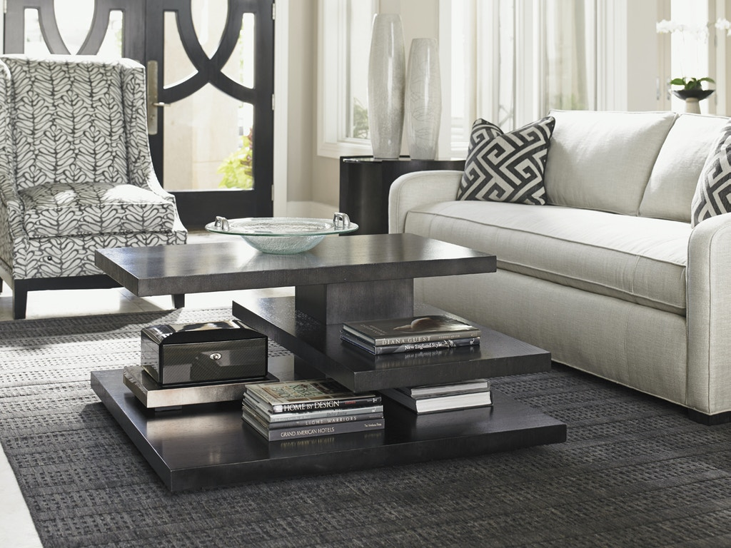 Lexington Home Brands Living Room Carrera Evora Square Cocktail Table 911 943 Norwood Furniture