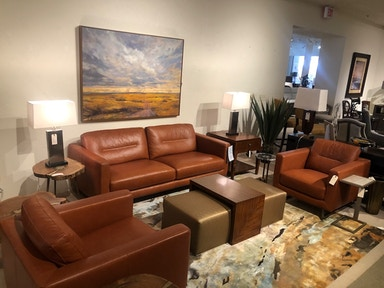 Craftsman Leather Living Room Sofas - Norwood Furniture ...