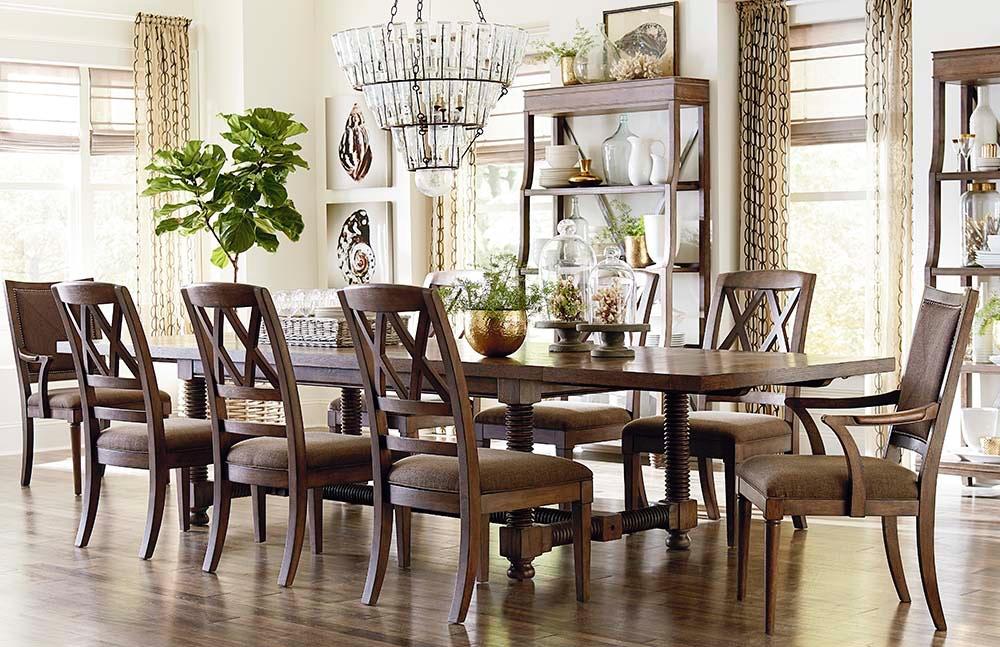 Bassett Dining Room pass Trestle Dining Table 4525 4404 Norwood Furniture