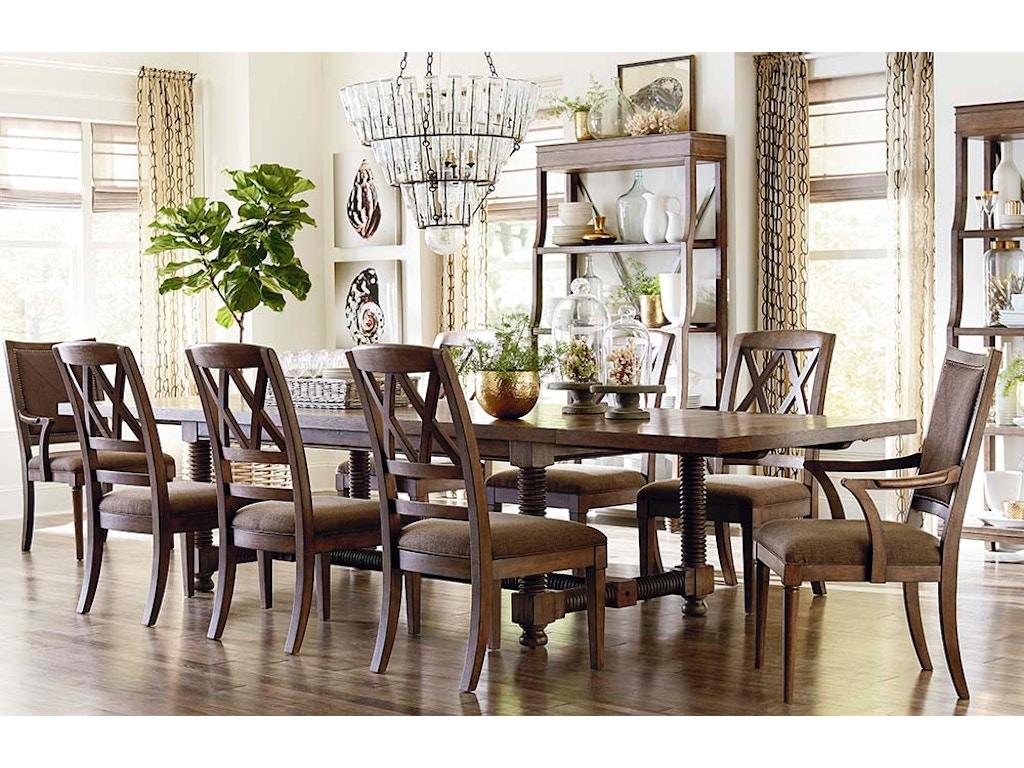 4525 4404  Compass Trestle Dining TableDining Room Tables   Norwood Furniture   Gilbert  Chandler  . Arlington Round Sienna Pedestal Dining Room Table W Chestnut Finish. Home Design Ideas