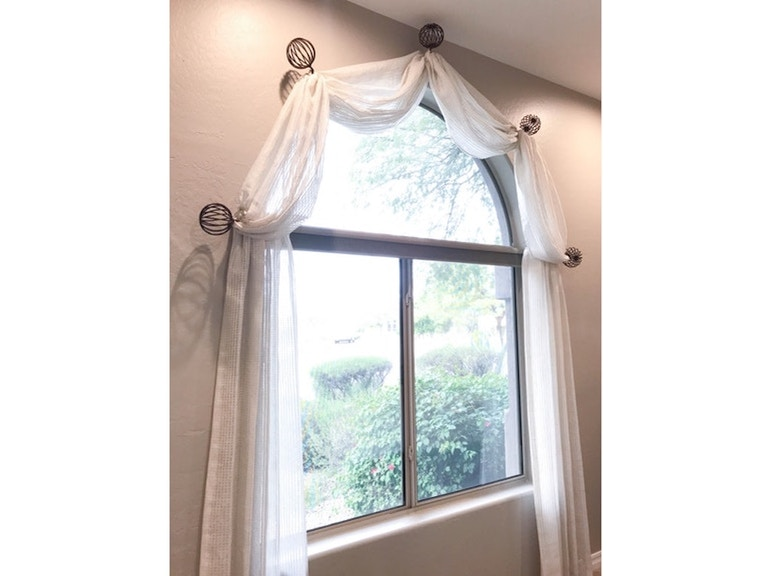 Drapery Department Arched Window Treatment Mm Arch Norwood Furniture
