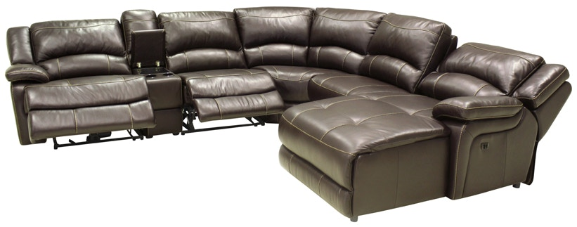 HTL Reclining Leather Sectional Sofa T118  sc 1 st  Norwood Furniture & HTL Living Room Reclining Leather Sectional Sofa T118 - Norwood ... islam-shia.org