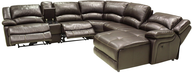 HTL Living Room Reclining Leather Sectional Sofa T118 Norwood
