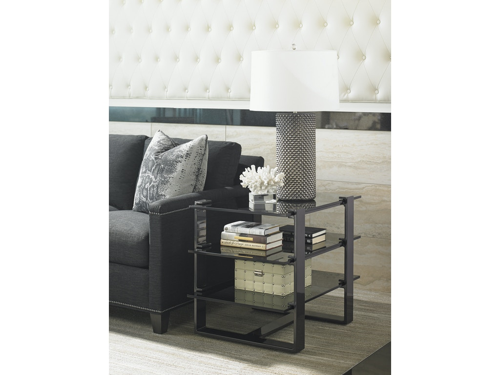 Lexington Home Brands Living Room Carrera Rhodium End Table 911 955c Norwood Furniture