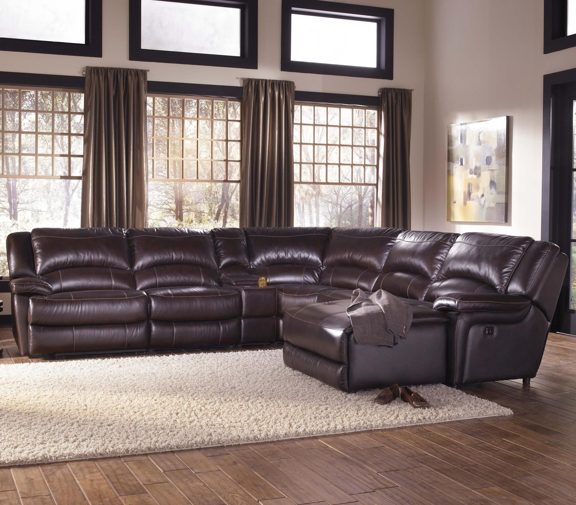 HTL Reclining Leather Sectional Sofa T118