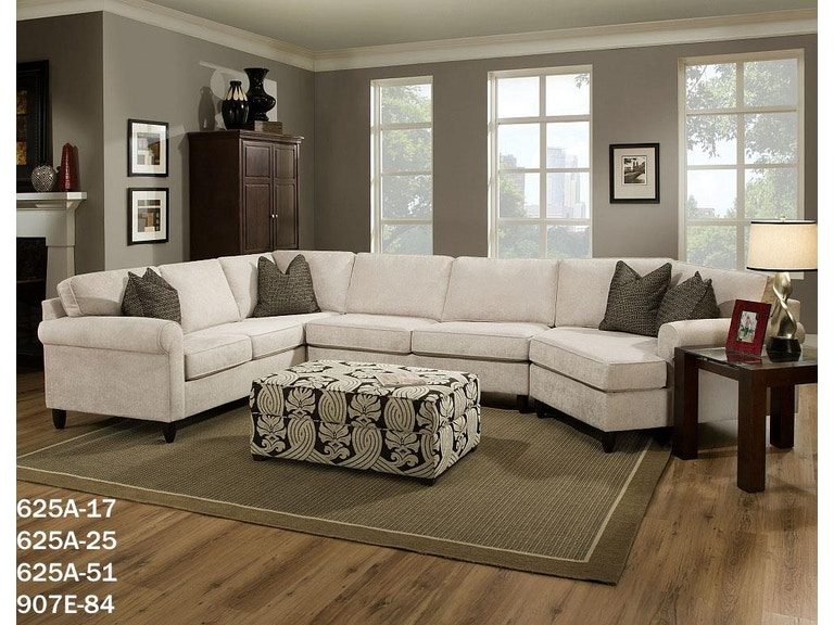 Bauhaus Rolled Arm Sectional Available In Endless Configurations 625a