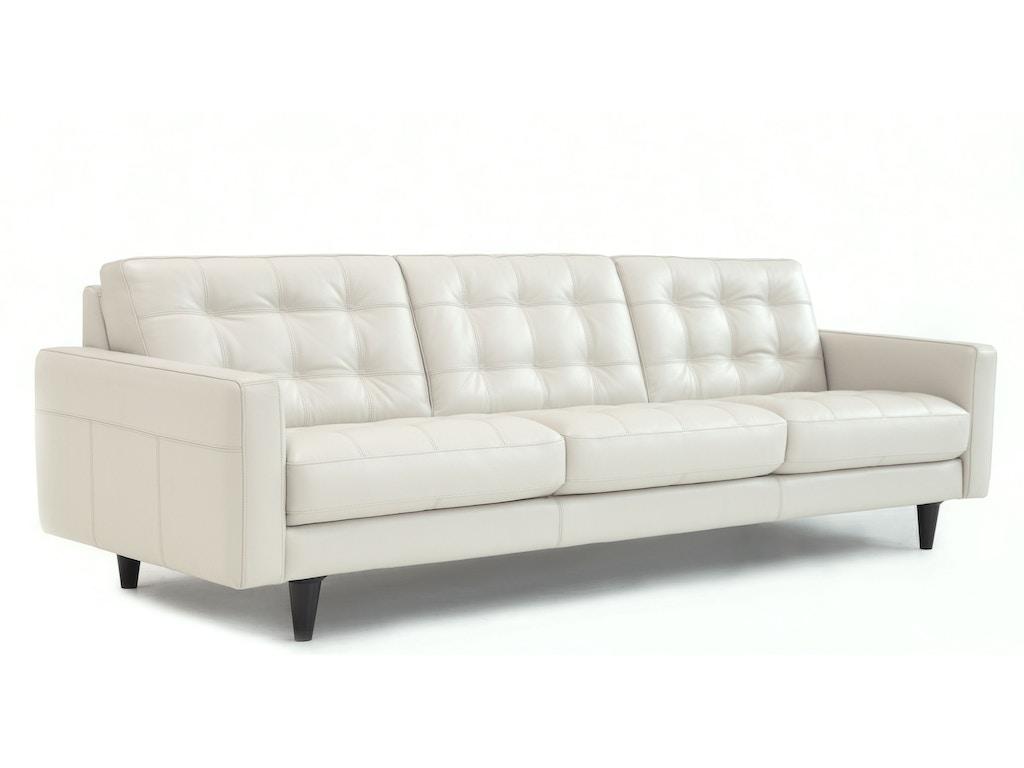 Chateau D Ax Living Room Italian Leather Tufted Sofa U217