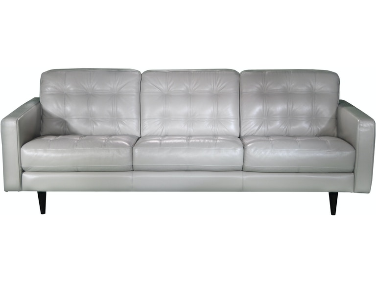 Chateau D Ax Living Room Italian Leather Tufted Sofa U217