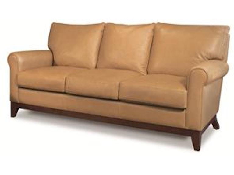 Elite Leather Apartment Size Sofa With Wood Base 26019