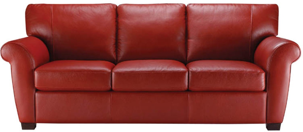 Natuzzi Living Room transitional rolled arm Italian leather sofa ...