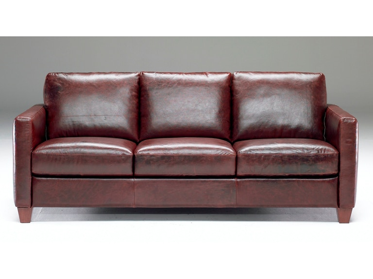 Natuzzi Living Room Track arm Italian Leather Sofa also ...