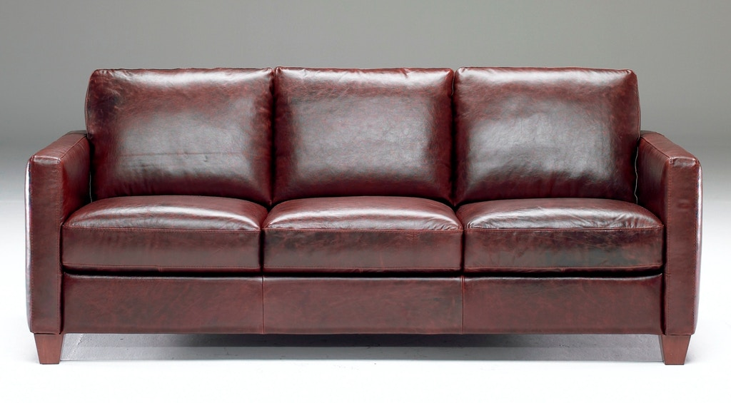 Natuzzi Living Room Track arm Italian Leather Sofa also ...