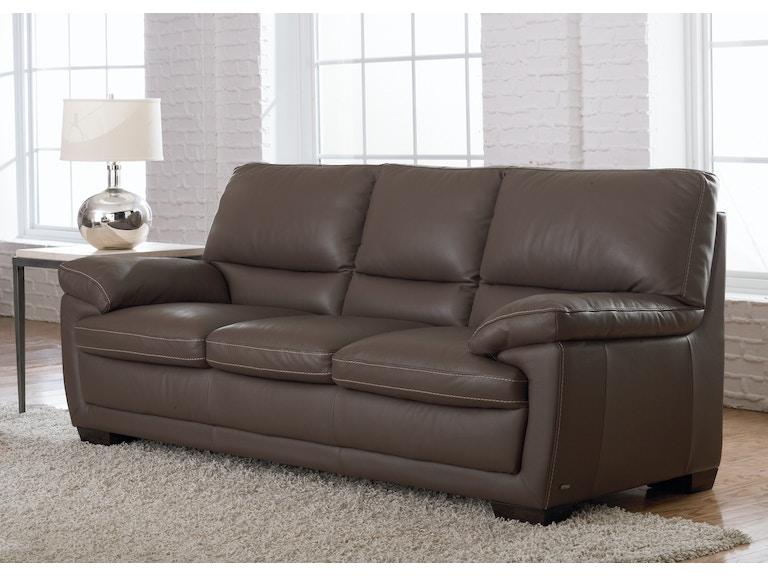 Natuzzi Living Room transitional Italian leather sofa B674 ...
