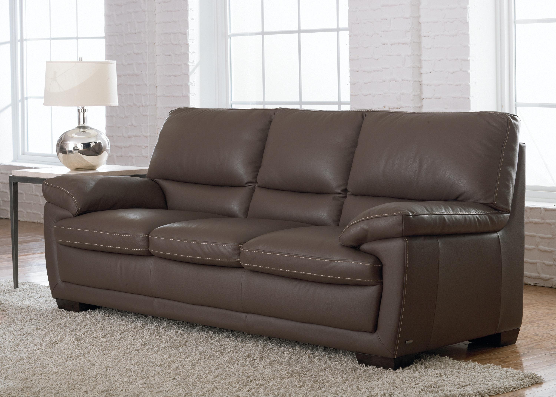 Natuzzi Transitional Italian Leather Sofa B674