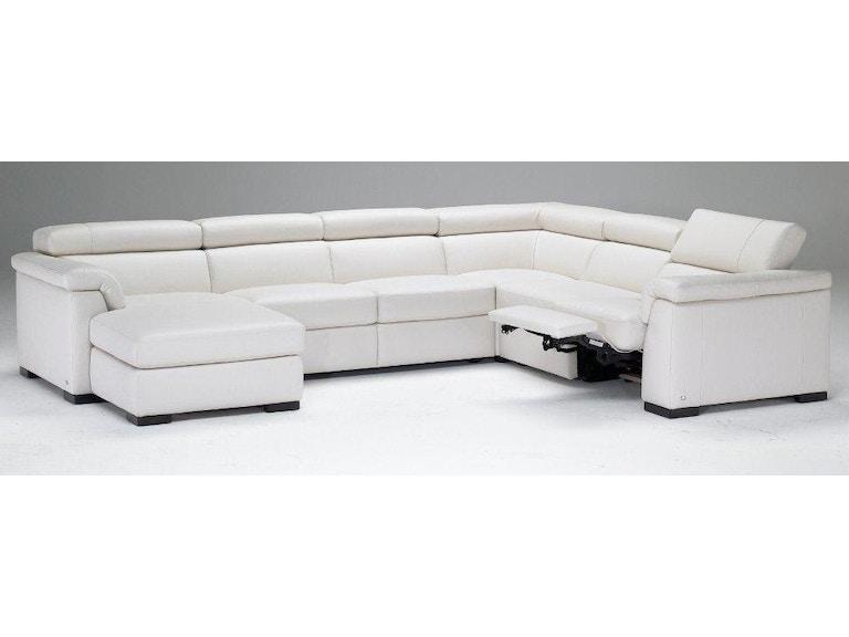 Natuzzi Living Room Modern Italian Leather Sectional B634