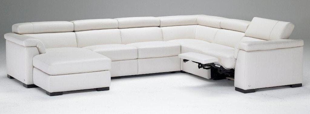 Natuzzi Living Room modern Italian leather sectional B634 ...