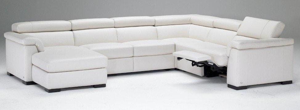 Natuzzi Modern Italian Leather Sectional B634