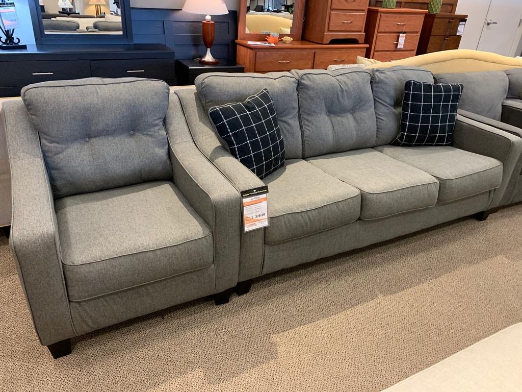 Outstanding New Ashley Brindon Queen Sleeper Sofa And Matching Chair Q Sleeper 719 00Ea And Chair 349 00Ea Gmtry Best Dining Table And Chair Ideas Images Gmtryco