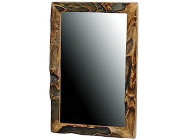 Rustic Log Accessories 18w Mirror 28l In Gnarly Log 18mi