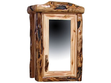 Rustic Log Dining Room 1 Door Medicine Cabinet In Flat