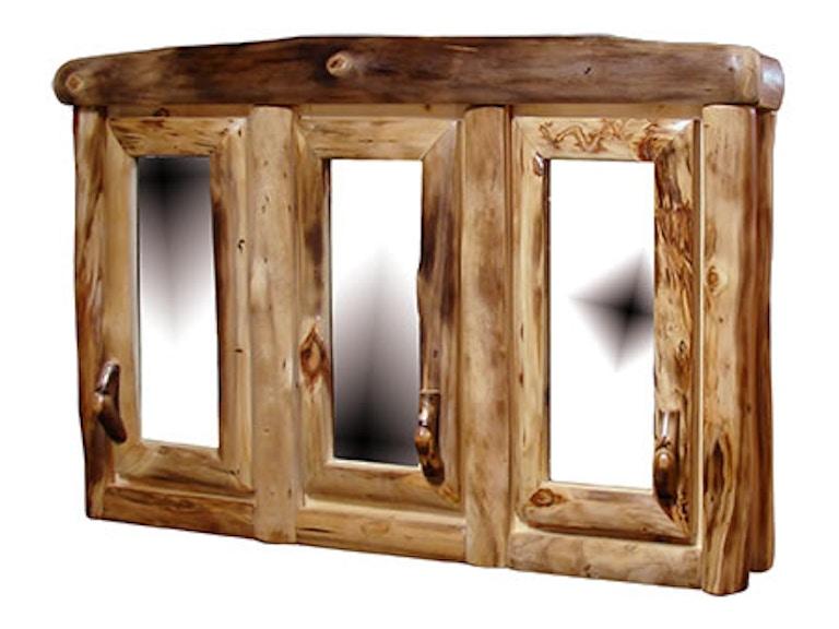 Rustic Log Dining Room 3 Door Medicine Cabinet In Log