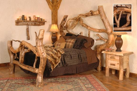 Uintah Log And Reclaimed Bedroom Crazy Horse Bed TD1005 At High Country  Furniture U0026 Design