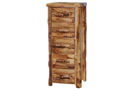 Delicieux Rustic Log 5 Drawer Chest In Log Front (24W) In Natural Panel U0026 Natural