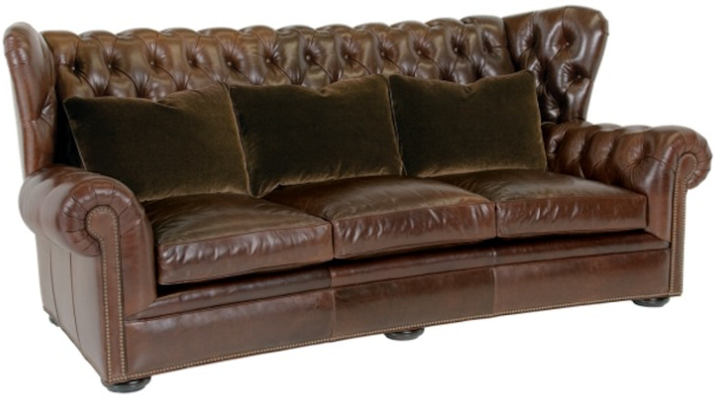 Classic Leather Living Room Pomeroy Tufted Sofa 8613 - High Country ...