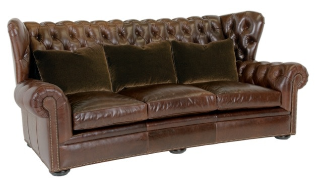 Classic Leather Living Room Pomeroy Tufted Sofa 8613 At High Country  Furniture U0026 Design