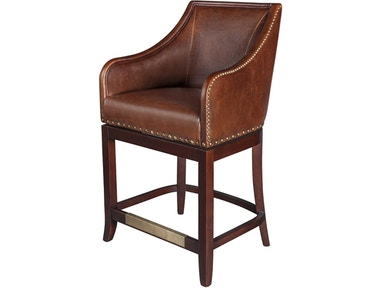 Alder And Tweed Antique Saddle Leather Manchester Swivel Bar Stool At012b As