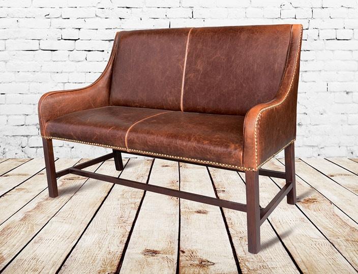 Alder and Tweed Living Room Antique Saddle Leather Manchester